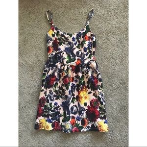 Soprano Brand Floral Sun Dress Waffle Material